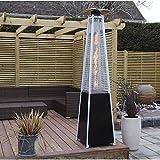Calefacción jardín Calefactor de Exteriores 13kw Jardín Estufas De Terraza Al Aire Libre, Independiente De La Llama Azul De Gas Pirámide Calentador De Patio Al Aire Libre con La Rueda GCSQF1010
