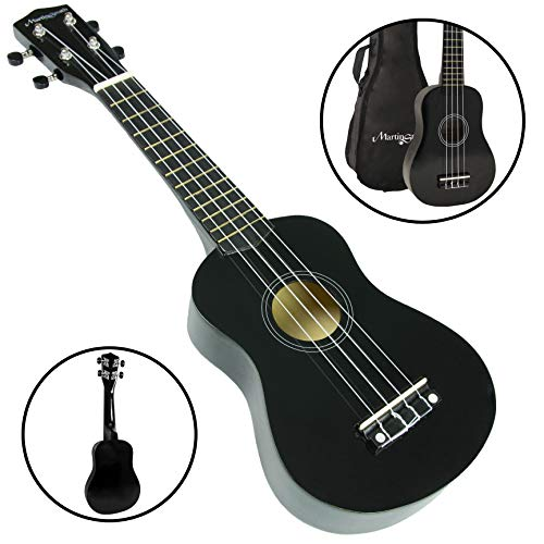 Martin Smith Soprano - Ukelele con Bolsa, color Negro