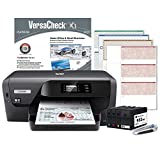 VersaCheck HP OfficeJet Pro 8210 MX MICR Check Printer and VersaCheck X1 Platinum Check Printing Software Bundle, Black (8210MX)