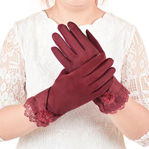 YJZQ Winter Touchscreen Handschuhe Outdoor Damen Gloves Warm halten Smartphone Fingerhandschuh für Radfahren Motorrad