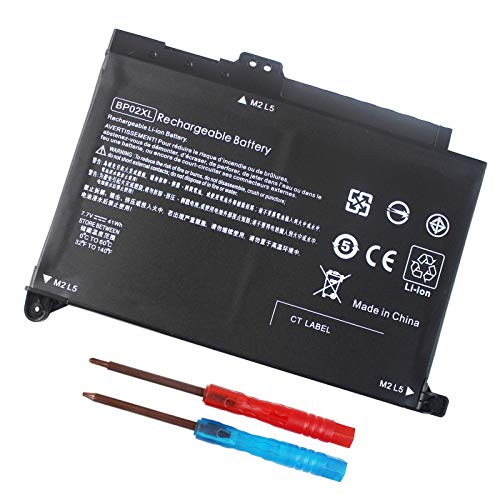 GDORUN BP02XL 849909-850 Laptop Battery for HP Pavilion PC 15-AU000 AU123CL AU023CL AU057CL AU010WM AU018WM AU020WM AU030WM AU062NR AU091NR AU620TX AU003TX 15Z-AW000 15T-AU000 15T-AW000 AW167CL 41WH