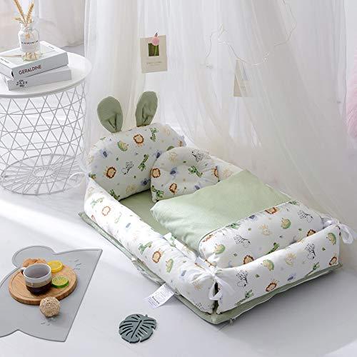 XUNMAIFLB Herausnehmbare Kinderbett 90 * 50 * 15 cm, Baumwolle, Reisebett, Bett Im Bett, Neugeborenenbett, Bionisches Bett, Tragbar Waschbar Sicherheit, C