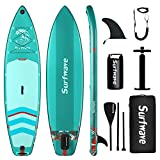 Surfwave Stand UP Paddle Board, 10'8'' Inflatable SUP Board W/Backpack, Camera Mount, 5L Waterproof Bag, Leash, Paddle, Pump, 5MIN Fast Inflate, Ideal for Beginners & Expects, Fresh or Salt Water…