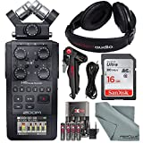 Zoom H6 Six-Track Portable Recorder with Interchangeable Microphone System with Deluxe Acc...