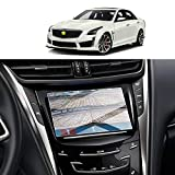 Screen Protector Foils for 2015-2019 Cadillac CTS CUE infotainment interface 8In Navigation Display Tempered Glass 9H Hardness Anti Glare & Scratch HD Clear LCD GPS Touch Screen Protective Film