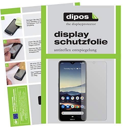 dipos I 2X Schutzfolie matt kompatibel mit Nokia 7.2 Folie Bildschirmschutzfolie (bewusst Kleiner als das Glas, da Dieses gewölbt ist)