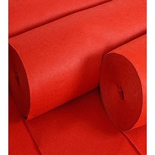 Boda Del Corredor De Pasillo Corredor De Pasillo Rojo Desechable De 2 Mm De Grosor Para La Ceremonia De Boda La Alfombra Del Corredor De Poliéster Alfombra Roja Boda(Size:1.2×25m(4×82ft),Color:rojo)