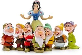 LBYLYH Home Decor Ornament Gift Cute 7 Dwarfs Snowwhite Princess Miniature Figurine Children Gift Resin Craft Fairy Garden Ornament