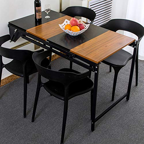 Inklapbare keukentafel van hout, multifunctionele klaptafel, computertafel, wandrek, hangrek, wandplank, langwerpig keuken- en eettafel, ontbijttafel 2 C
