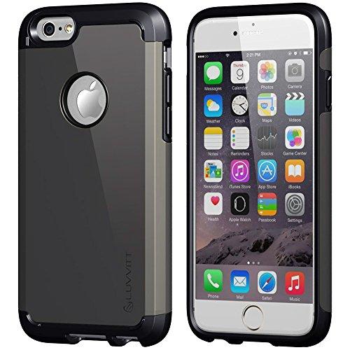 Luvvitt Ultra Armor Shock Absorbing Heavy Duty Dual Layer Case for Apple iPhone 6 / iPhone 6s - Black/Gunmetal