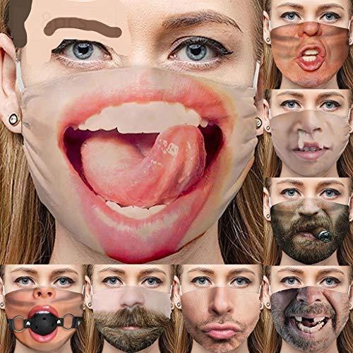 Neu Und Eigenartig, 8 Interessante Ausdrücke, Staubschutz, 3D-Druck Von Nase Und Bart