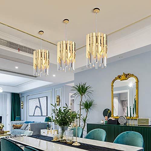 Kroonluchter postmoderne eenvoudige afzonderlijke hoofdkleine kroonluchter RVS-kristallen restaurant-kandelaar grootte 20 cm * 23 cm lampen hangend licht