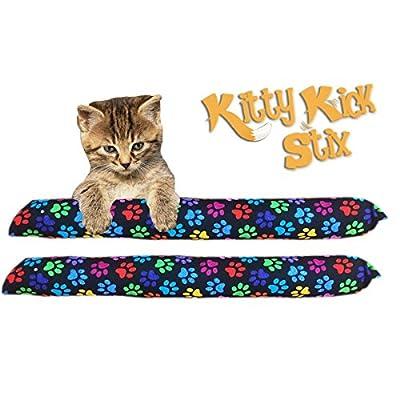 "Kitty Kick Stix 15"" Original Catnip Kicker Toy (Set of 2) (Paws Paws Paws)"