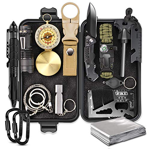 EMDMAK Survival Gear, Outdoor Emergency Survival Kit for Camping Hiking Hunting Fishing Travelling or Adventures