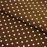 Hans-Textil-Shop Stoff Meterware Punkte 7 mm Weiß auf