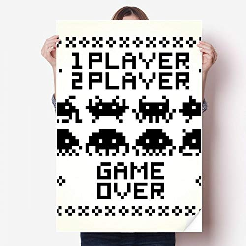 DIYthinker Spelers Game Over Little Monster Pixel Vinyl Muursticker Poster Fotobehang Kamer Decal 80X55Cm