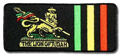 Parche para planchar con diseño de El León de Judah Reggae Ragga África, Etiopía, Irlanda, Festival Party (pequeño)