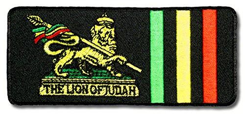 El león Judah parche planchar Patch Reggae raggamuffin