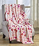 Décor&More Amor Eterno Be Mine Love Collection Valentine's Day Heart Ultra Plush Throw Blanket (50' x 60') - Be Mine