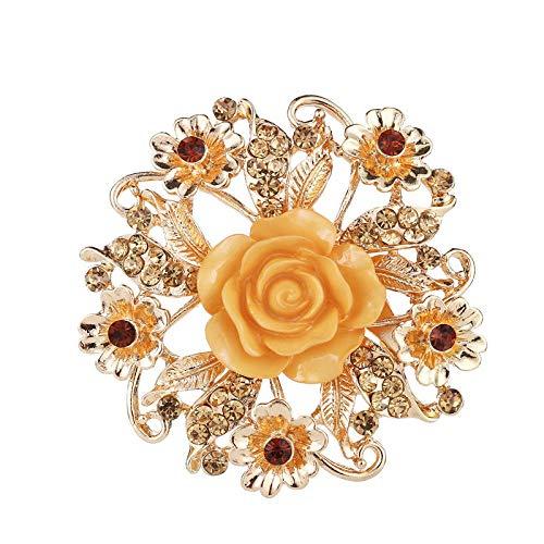 U/N Flor Color de Rosa Broche de Diamantes Boda Ramillete de Novia...