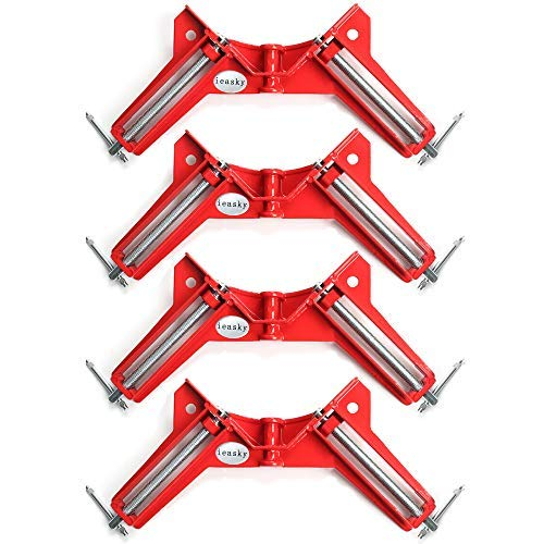 ieasky 90 Degree Right Angle Clamp, 4Pcs Woodworking Clamps Set, Adjustable Wood...