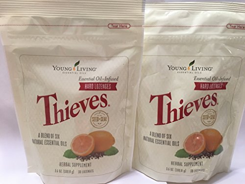Thieves Hard Lozenges 30 ct (2 Packages) by Young Living Essential Oils