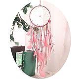 Pink Handmade Dream Catcher for Girls Room Wall Decoration