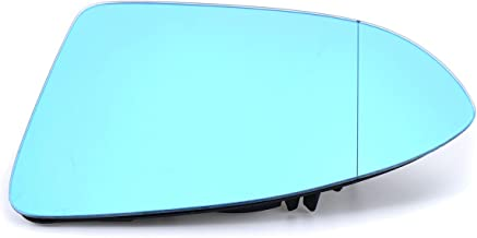 Viviance Puerta De Coche Espejo De Cristal De Vidrio Teñido Azul Lado Izquierdo Calentado para Golf 7 GTI Mk7 14-15