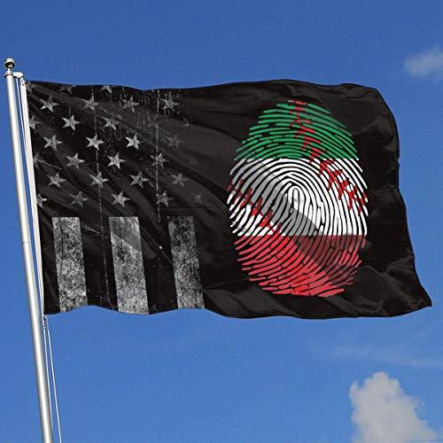 AOTADer Banderas al Aire Libre gastadas Bandera de EE. UU. Bandera Italiana Béisbol Está en mi ADN Bandera para fanáticos de los Deportes Fútbol Baloncesto Béisbol Hockey