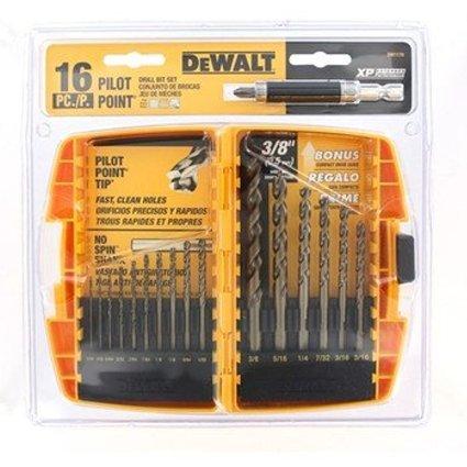 16 Piece Pilot Point Gold Ferrous Drill Bit Set - No. DW1170