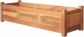 Tidyard Garden Planter Raised Bed Planter Boxes Outdoor Large Patio Bed Kit Planting Herb Raised Garden Bed Acacia Wood 10...