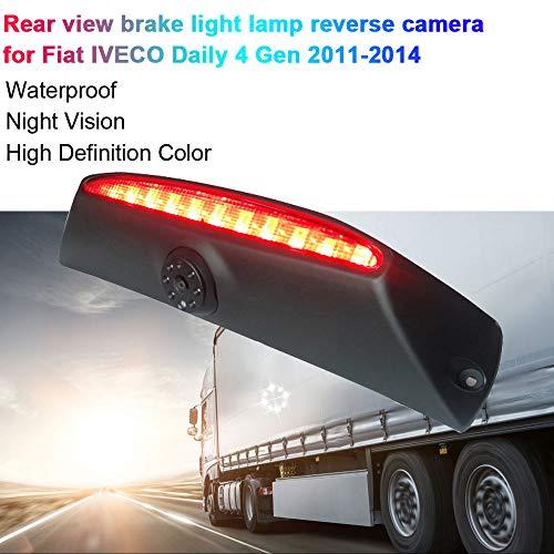 Transporter Van HD Caméra de Voiture Vision Nocturne IR Grand Angle de 150-170 degrés Imperméable de feu de freinage Caméra de Recul pour Voiture Fiat Daily 4 Gen 2011-2014