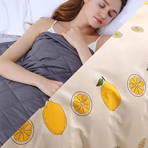 Weighed Blanket con Funda,9.1kg Gravity Manta para Peso Corporal 86-100kg para Calmarse y Dormir,203x221cm,Rosa