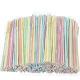 Xyedyaup 400 PCS Pajitas grueso niños pajita de colores pajitas cóctel reutilizables curvas...