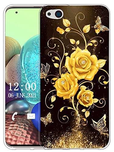 Sunrive Hülle Kompatibel mit ZTE Nubia Z9 Max Silikon, Transparent Handyhülle Schutzhülle Etui Hülle (X Schmetterling und Rose 1)+Gratis Universal Eingabestift MEHRWEG