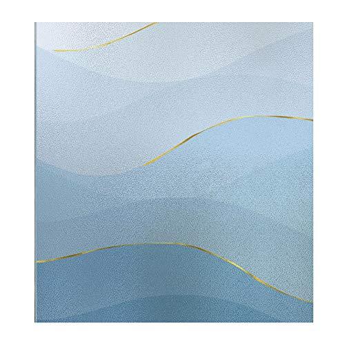 bandezid Vinilos para Ventanas Película para Ventanas - vinilos Decorativos - Pegatinas para Ventanas con adherencia estática - Anti-UV para Cocina y Oficina-W-Sea 0.9x1m