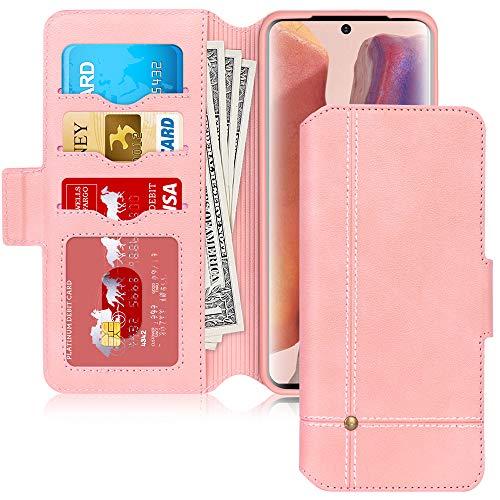 FYY Galaxy Note 20 Hülle,Samsung Galaxy Note 20 Handyhülle,PU Lederhülle Note 20 Flip Tasche mit [Standfunktion] Magnetverschluss für Samsung Galaxy Note 20 Klapphülle(2020),Rosa