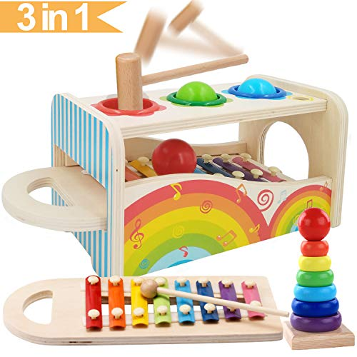 Jiudam 音楽おもちゃ 子供 パーカッション セット 赤ちゃん おもちゃ 早期開発 知育玩具 男の子 女の子 誕生日のプレゼント オクターブ ノッキング ピアノ 多機能 楽器おもちゃ