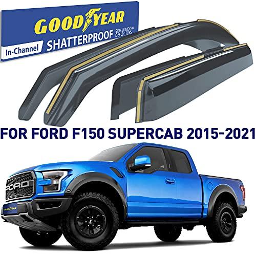 Goodyear Shatterproof in-Channel Window Deflectors for Ford F150 2015-2021...