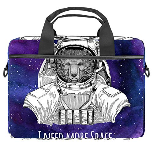 Protective Carry Case Luxury Computer Briefcase Suitable for 13.4'-14.5' Laptop with Display I Need More Space Galaxy Purple