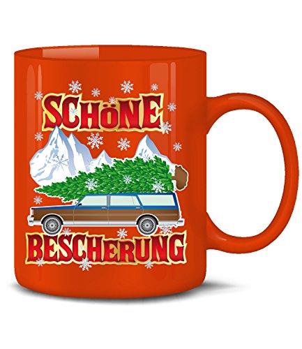 Golebros Schöne Bescherung 4557 Weihnachten Weihnachtstassen Weihnachtsbecher Weihnachtsdeko Lustig Witzig Fun Tasse Becher Kaffeetasse Kaffeebecher Rot