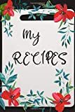"""My recipe for a perfect wife: Blank Recipe Journal to Write in for Women, Food Cookbook Design, Document all Your Special Recipes and Notes for Your ... ... for Women, Wife, Mom 6"""" x 9"""" Made in USA"""