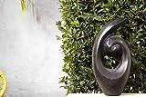 Green-lab Terrazzo Skulptur, Gartenskulptur, Gartenfigur, Gartendekoration, Garten Figur, Gartendeko Garten Deko, Steinfigur, Abstrakt 18x28x53 cm