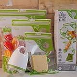 FOSA Vacuum Seal Food Storage System Reusable Zipper Bag Set with Vacuum Pump, V-adapter, 14 Storage...