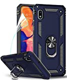 LeYi Compatible for Samsung Galaxy A10e Case (NOT FIT A10) with HD Screen Protector,Military-Grade Armor Full-Body Phone Cover Case with 360 Degree Rotating Kickstand for Samsung A10e, Blue