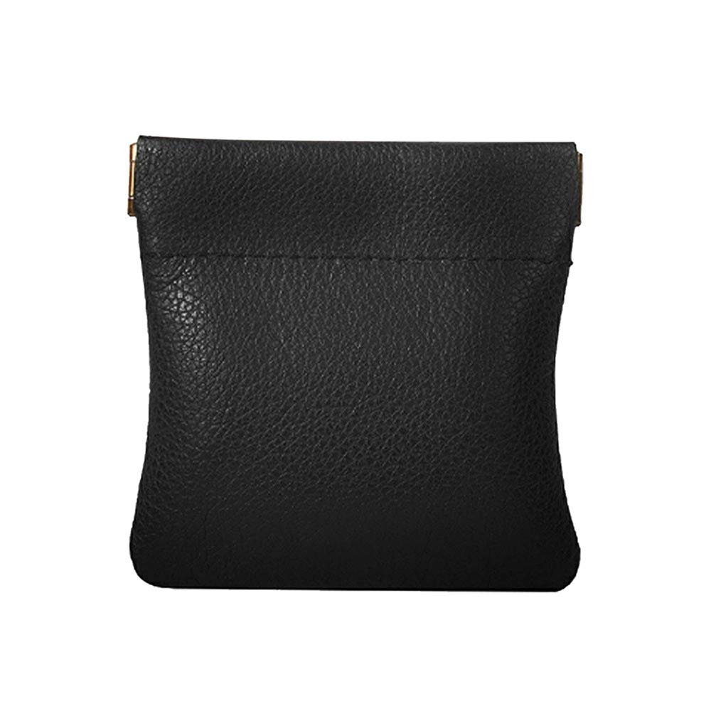 Leather Squeeze Purse change Holder