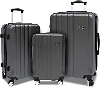 """Expandable Suitcase with Spinner Hardside Luggage Sets with TSA Lock 3 Piece 20"""" 24"""" 28"""""""