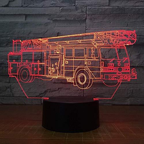 3D Optische Illusions feuerwehr auto Lampe 7 Farben Touch-Schalter Illusion Nachtlicht Für Schlafzimmer Home Decoration Hochzeit Geburtstag Weihnachten Valentine Geschenk