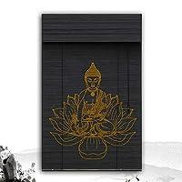 XZ15 竹のローラーブラインド、バランス、窓とドアのシェードをロールアップし、太陽色合い黒、90/120 / 135cm幅 (Color : B, Size : 100X180CM)