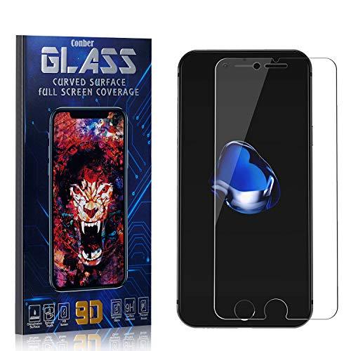 Conber Panzerglasfolie für iPhone 6S / iPhone 6, [4 Stück] 9H gehärtes Glas, Blasenfrei, Kratzfest, Hülle Freundllich Hochwertiger Panzerglas Schutzfolie für iPhone 6S / iPhone 6